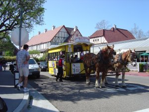 Ride the Honen Street Car in Solvang