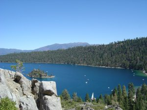 When in Placerville, Emerald Bay in So. Lake Tahoe is about an hour's drive.