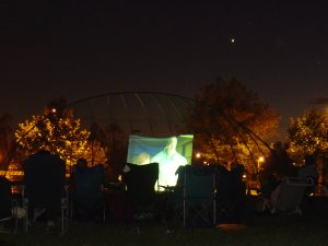 Catch an outdoor movie during the summer