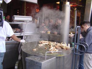 Fresh Steamed Shellfish can be enjoyed on Fisherman's Wharf