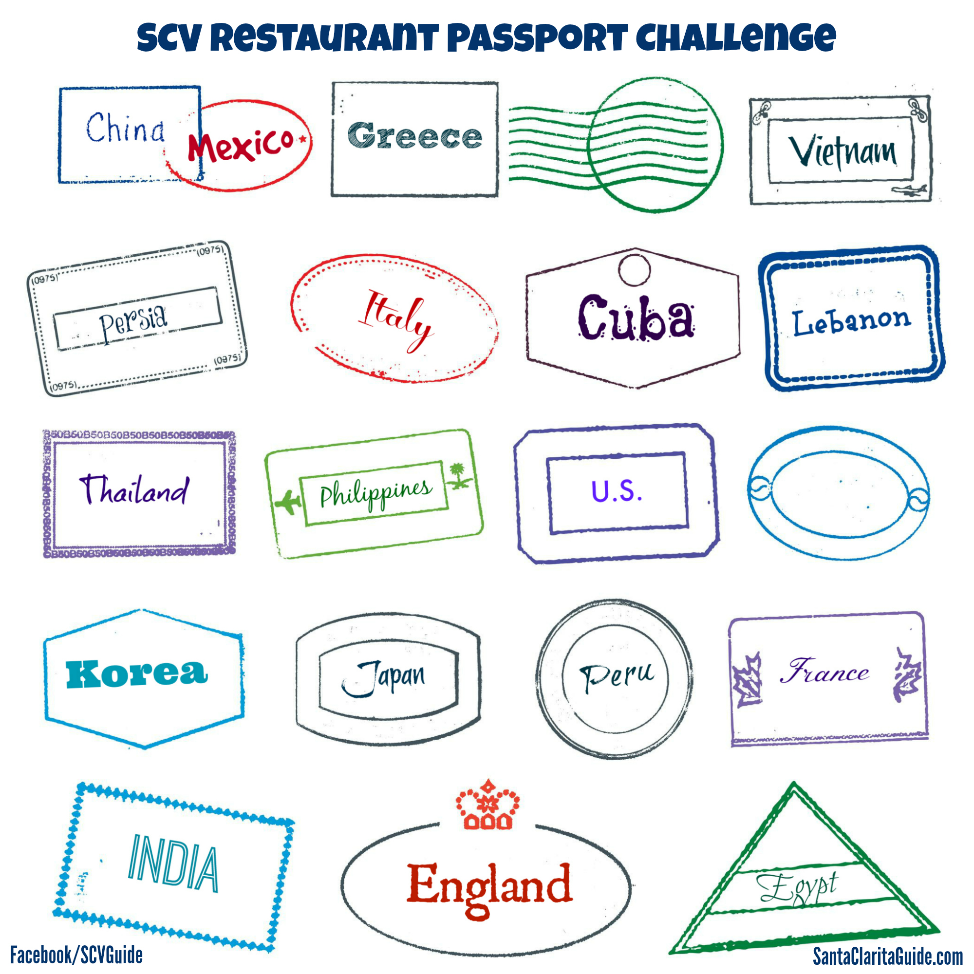 SCV Restaurant Passport