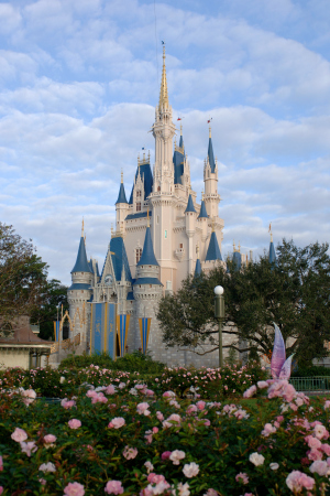Cinderella Castle in the Magic Kingdom of the Walt Disney World Resort is the centerpiece of Fantasyland.
