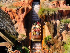 SPLASHDOWN!--Brer Rabbit's quest for adventure and his rival's plot to do him in launch Walt Disney World Resort guests on an action-filled journey with a thrill-packed, five-story 'splashdown' finale on Splash Mountain in the Magic Kingdom.
