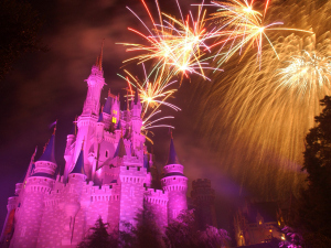 Wishes' bursts above and around Cinderella Castle.