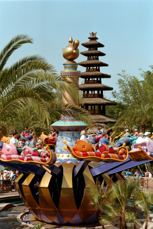 MAGIC CARPET RIDE -- Guests of Walt Disney World's Magic Kingdom theme park can take to the skies on the Magic Carpets of Aladdin ride.