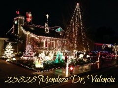 25828 mendoza drive valencia - Christmas Lights In Santa Clarita