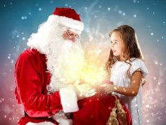 Santa Claus with little girl