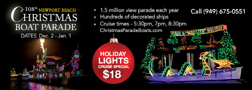 $18 Christmas Boat Parade Offer coupon for 2016 Newport Beach Christmas Boat Parade