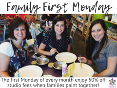 As You Wish Pottery Family First Mondays