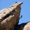 climbers at Vasquez Rocks by Jeff Turner