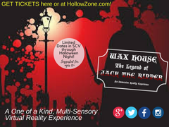 Wax House Jack the Ripper Virtual Reality Experience at Mountasia Fun Center