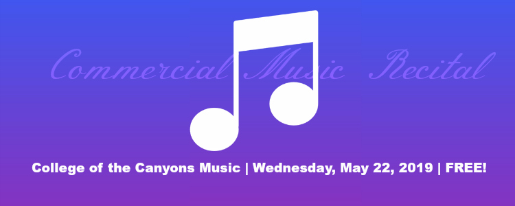COC Commercial Music Recital May 22, 2019