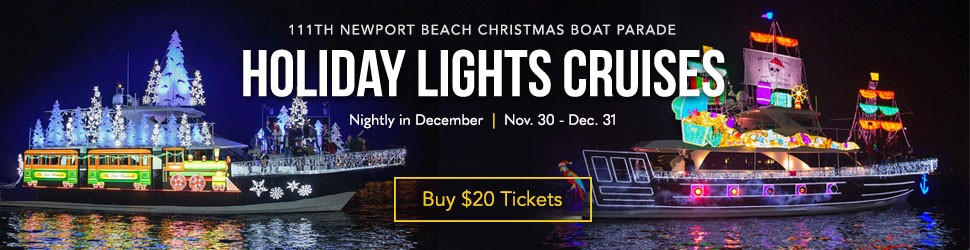 $20 Christmas Boat Parade Offer coupon for 2018 Newport Beach Christmas Boat Parade