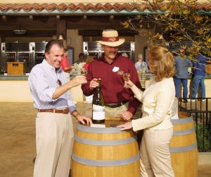 Sample wine at The Golden Vine Winery in Disney's California Adventure Photo <small>&copy; Disney </small>