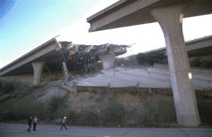 Damage from the 1994 Northridge Quake<br><small>&copy; Robert A. Eplett/OES CA,California Governor's Office of Emergency Services</small>