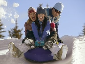 Gather the family for some tubing at Mountain High Resort.